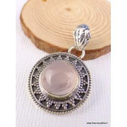 Petit pendentif vintage Quartz rose Pendentifs pierres naturelles AJE13.30