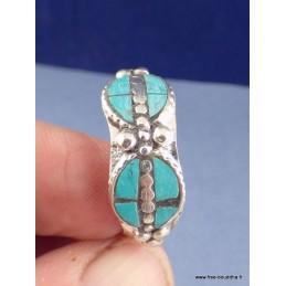 Bague tibétaine métal blanc pour homme Bijoux tibetains bouddhistes  REF211