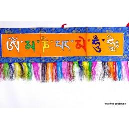 Tenture tibétaine de porte Mantra de Chenrezi OMPH1