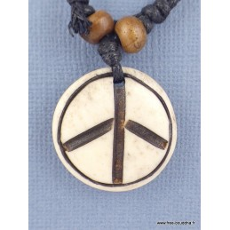 Collier tibétain Peace and Love Bijoux tibetains bouddhistes  PAL3