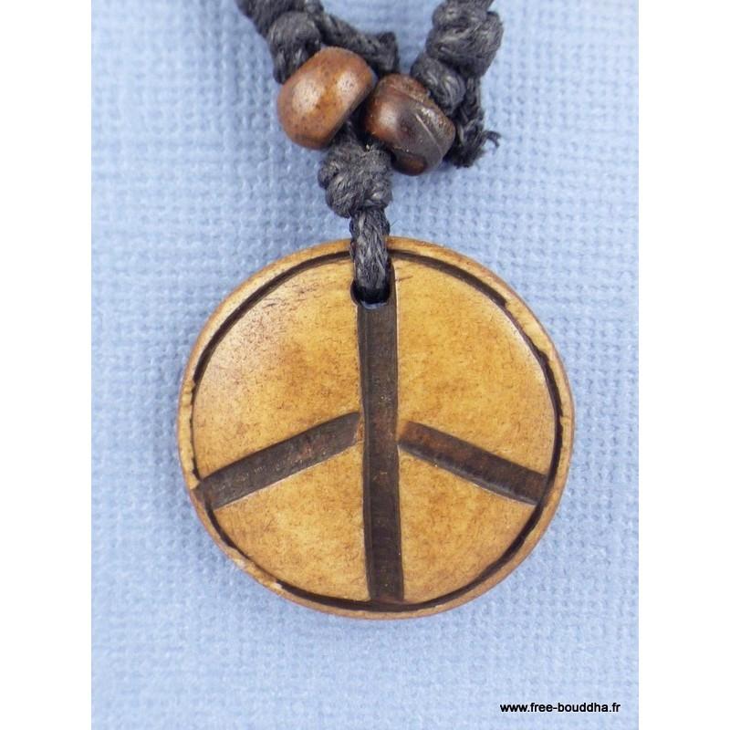 Collier tibétain Peace and Love Bijoux tibetains bouddhistes  PAL4