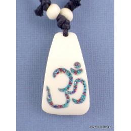 Collier tibétain OM BOUDDHISTE Bijoux tibetains bouddhistes  WN3.5