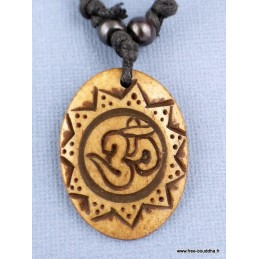 Collier os de Yak OM TIBETAIN Bijoux tibetains bouddhistes  WN21
