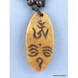 Pendentif symbole Yeux de Bouddha  Bijoux tibetains bouddhistes  WN30