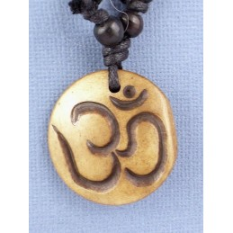 Bijou OM TIBETAIN en os de Yak Bijoux tibetains bouddhistes  WN33