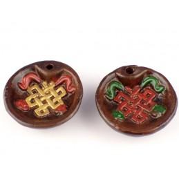 Porte encens tibétain Noeud infini PET4