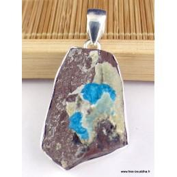Pendentif argent Cristal de Cavansite Pendentifs pierres naturelles PAC68