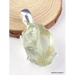 Pendentif Améthyste verte brute serti griffes Pendentifs pierres naturelles PAC69