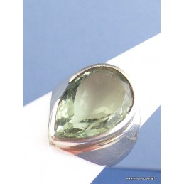Bague argent PRASIOLITE (amethyste verte) T 58/59 Bagues pierres naturelles f34.6