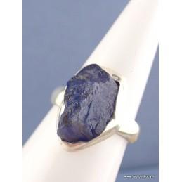 Bague argent Tanzanite brute T 52/53 Bagues pierres naturelles NB45.6