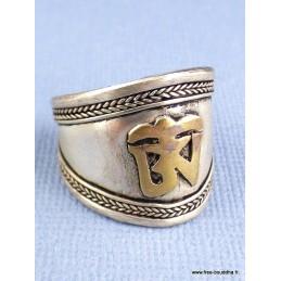 Bague tibétaine Symbole Om Bijoux tibetains bouddhistes  BT12