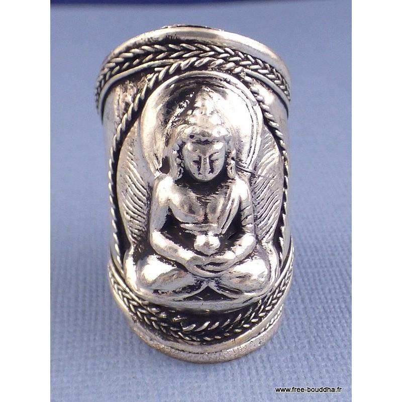 Bague tibétaine BOUDDHA T 60/70 Bijoux tibetains bouddhistes  ABT6