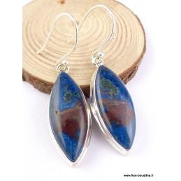 Boucles d'oreilles Shattuckite forme marquise Boucles d'oreilles en pierres PAC83.2