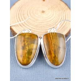Boucles d'oreilles en Nellite semi-ovales Bijoux en Nellite PAC86.1