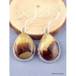 Boucles d'oreilles Septaria forme goutte Bijoux en Septarian PAC88.1