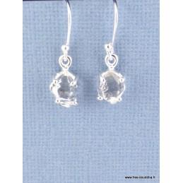 Boucles d'oreilles Diamant d'Herkimer facetté Boucles d'oreilles en pierres PAC98