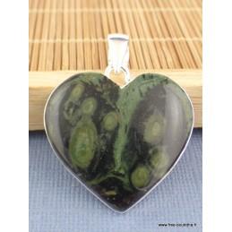 Pendentif Coeur en Jaspe Kambaba Pendentifs pierres naturelles WL34.2