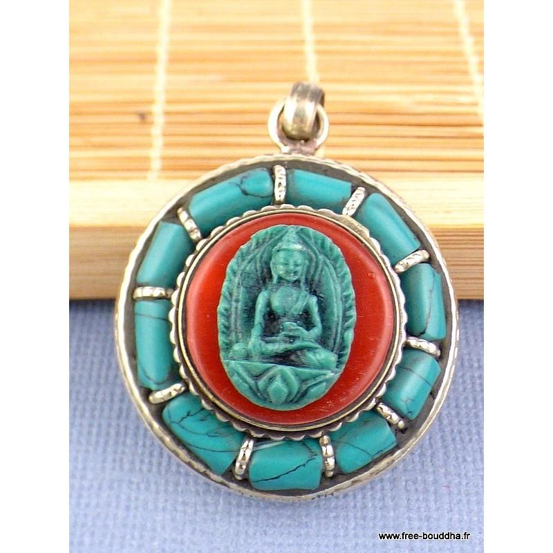 Pendentif Bouddha Ghau Bijoux tibetains bouddhistes  REF63