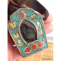 Gros pendentif tibétain bouddhiste Ghau Bijoux tibetains bouddhistes  ref 29A
