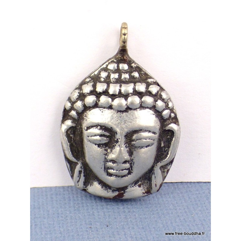 Tête de Bouddha pendentif métal Bijoux tibetains bouddhistes  ref 31.1