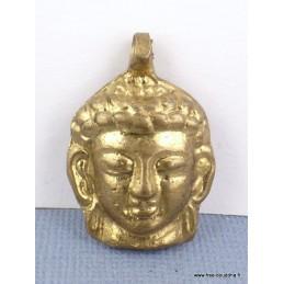 Tête de Bouddha pendentif laiton Bijoux tibetains bouddhistes  ref 31.2
