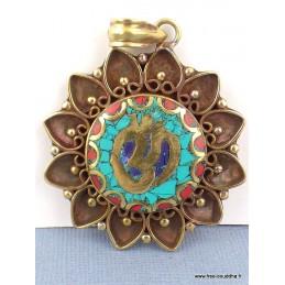 Pendentif tibétain bouddhiste en métal vieilli Bijoux tibetains bouddhistes  FC3