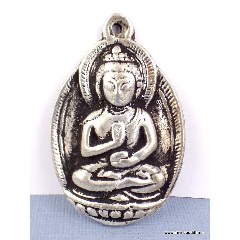 Bijou pendentif BOUDDHA en métal Bijoux tibetains bouddhistes  WN7.2