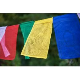 Drapeaux tibétains divinités bouddhistes x 10 Grand modèle qualité supérieure Drapeaux tibétains drapeau GM1