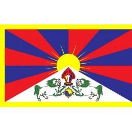 Drapeau tibétain double face 40 x 25 cm DT4025