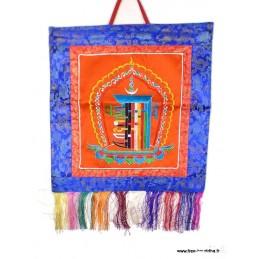 Tenture tibétaine bouddhiste Kalachakra orange KALA1