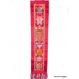 Tenture tibétaine bouddhiste verticale signes auspicieux Tentures tibétaines Bouddha HQTEN1