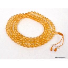 Mala tibétain 108 perles de Citrine AA125.3