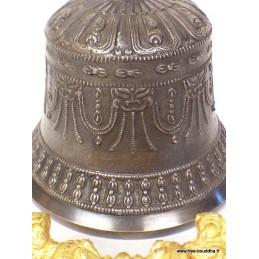Cloche et dorjé tibétain bronze plaqué or 18 cm DOVAJ2