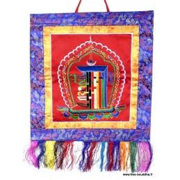Tenture tibétaine bouddhiste Kalachakra rouge KALA1.2