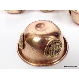 Sept bols d'offrandes tibétains 6.5 cm BOL48