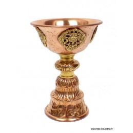 Lampe à beurre tibétaine 12 cm Objets rituels bouddhistes UN11