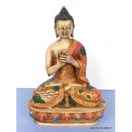 Statue Bouddha Sakyamouni peint à la main SAKYA1