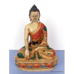 Statue tibétaine Bouddha Sakyamouni en méditation SAKYA3