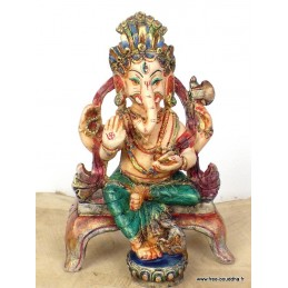 Statuette Ganesh assis STAGAN2