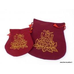Pochettes pour malas et bijoux motif lotus POC1