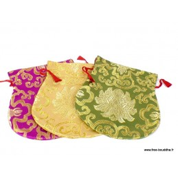 Pochettes pour mala tibétain 19 x 16 cm POCBRO1