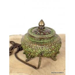 Encensoir tibétain patine antique BETSP3