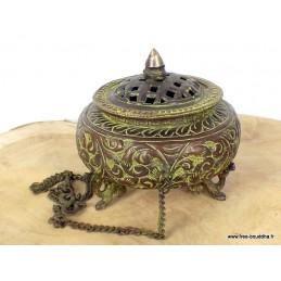 Encensoir tibétain patine antique grand modèle BETSP4
