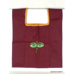 Sac moine tibétain brodé Yeux de Bouddha sac MO2