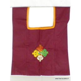 Sac moine tibétain brodé Dorjé vajra sac MO3