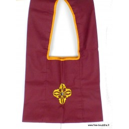 Sac de moine bouddhiste Dorje Vajra jaune sac MO4