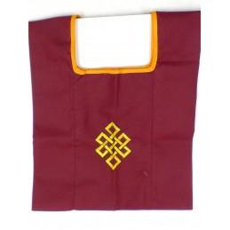 Sac de moine bouddhiste Noeud sans fin jaune sac MO5