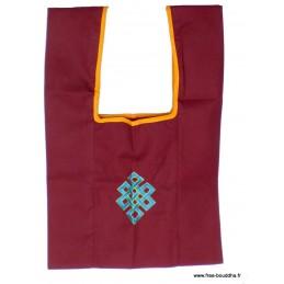 Sac de moine bouddhiste Noeud sans fin bleu sac MO6
