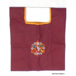 Sac de moine bouddhiste Mantra Chenrezi sac MO8