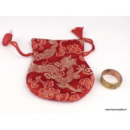 Petite pochette tibétaine en brocade 9 x 7 cm Pochettes tibétaines pour malas et bijoux POC2